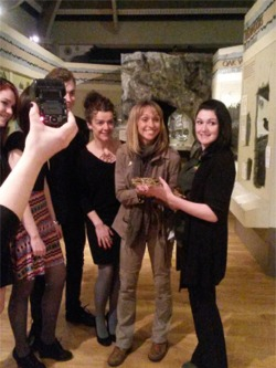 [Geoff The Boa at Special Events & Parties - Here with Michaela Strachan at Derby Museum]